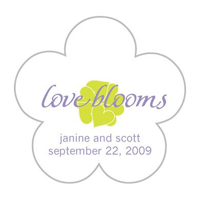 Lavender Flower Shaped Stickers
