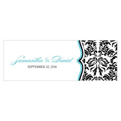 Love Bird Damask Small Rectangular Tag