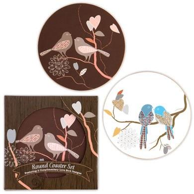 Love Birds Coaster Set Favour