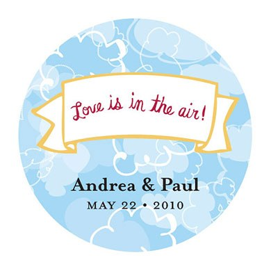 Love Is In The Air Round Cloud Sticker