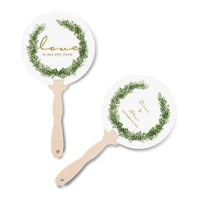 Love Wreath Personalized Hand Fan