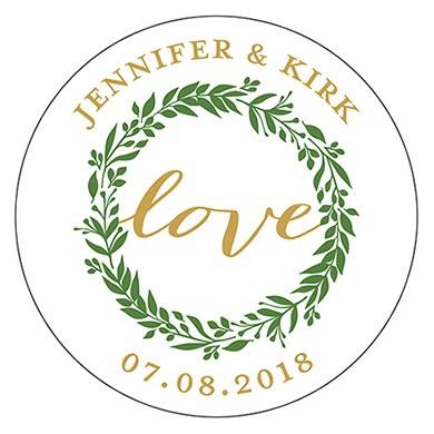 Love Wreath Small Sticker