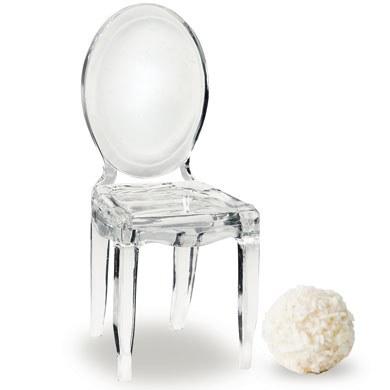 Miniature Clear Acrylic Phantom Chairs