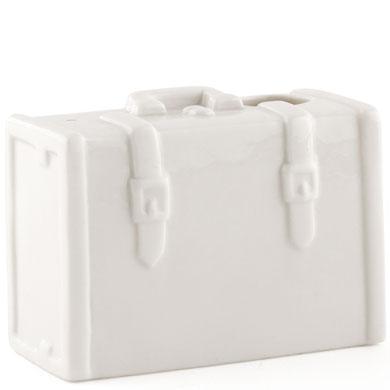 Miniature Porcelain Luggage Vase