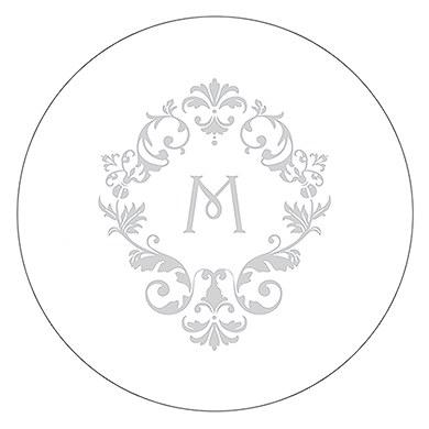 Monogram Simplicity Small Sticker - Classic Filigree