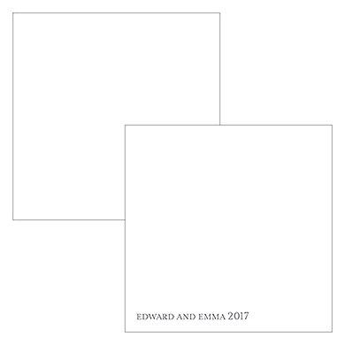 Monogram Simplicity Square Favor Tag