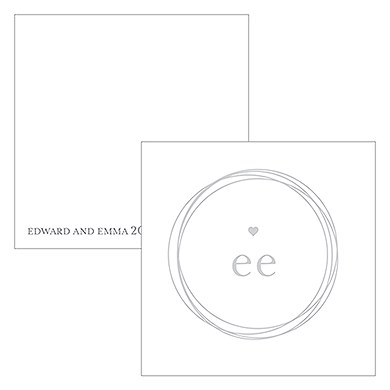 Monogram Simplicity Square Favor Tag - Modern
