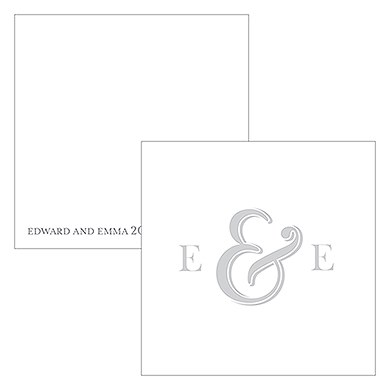 Monogram Simplicity Square Favor Tag - Simple Ampersand