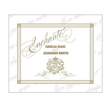 Parisian Love Letter Rectangular Label
