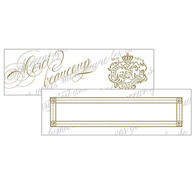 Parisian Love Letter Small Rectangular Tag