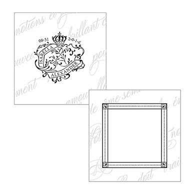 Parisian Love Letter Square Tag