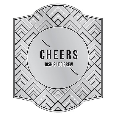 Personalized Beer Bottle Label - Silver Metallic Foil