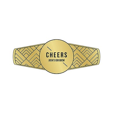 Gold Metallic Foil Personalized Cigar Ban Label