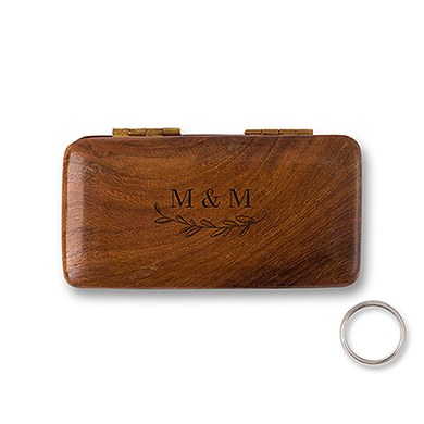 Personalized Pocket Size wooden box