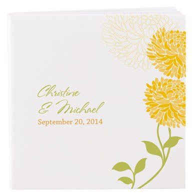 Personalized Zinnia Bloom Notepad Wedding Favor