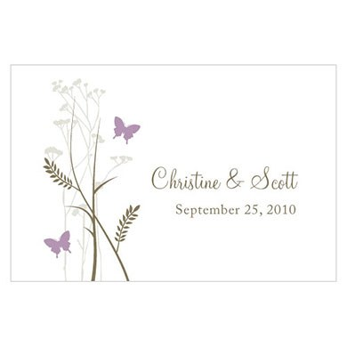 Romantic Butterfly Large Rectangular Tag