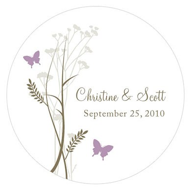 Romantic Butterfly Large Sticker