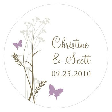 Romantic Butterfly Small Sticker