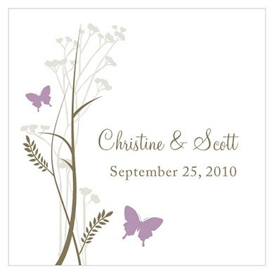 Romantic Butterfly Square Tag
