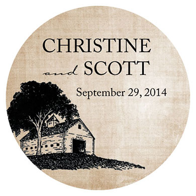 Rustic Country Large Sticker