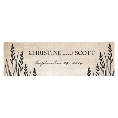 Rustic Country Small Rectangular Tag