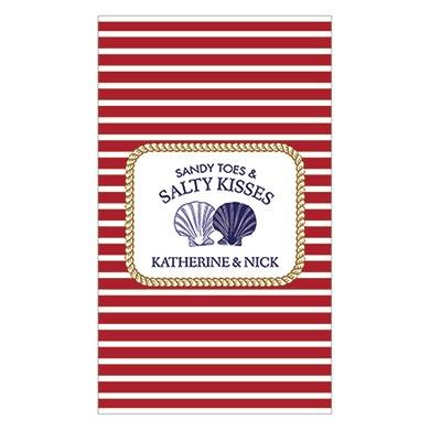 Sandy Toes Salty Kisses Rectangular Label