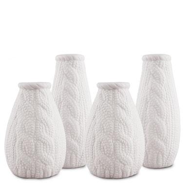 Small White Porcelain Flower Vases