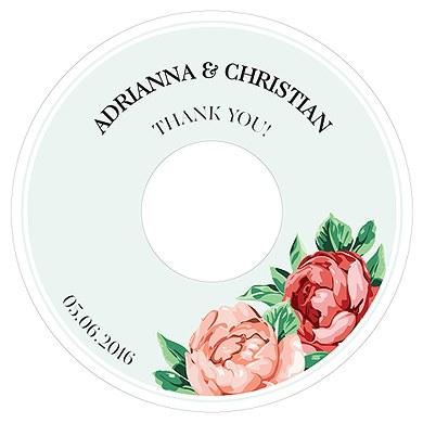 Tea Rose Diecut CD Label