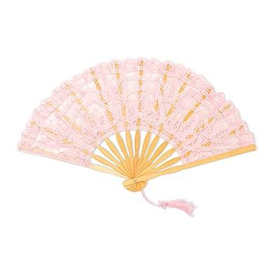 Vintage Pink Lace Hand Fan