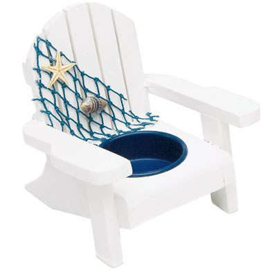 White Deck Chair Favor Candle Holders