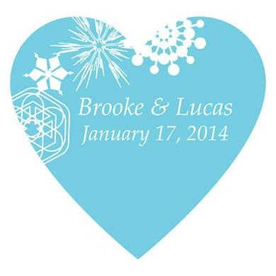 Winter Finery Heart Sticker