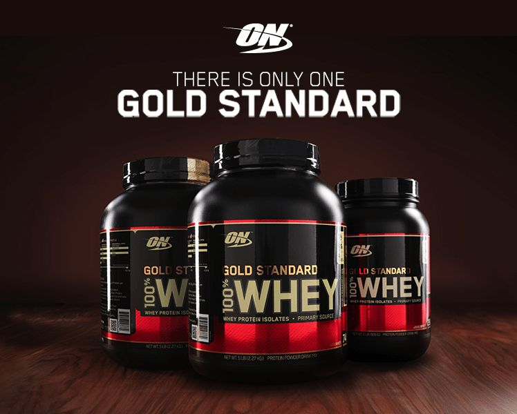 Gold standard 100 % whey protein and protein isolates