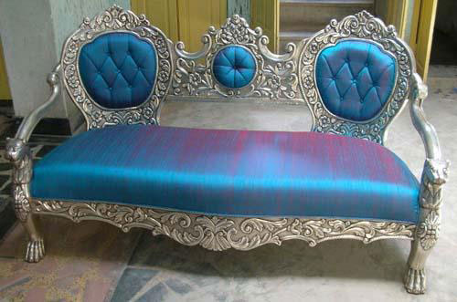 Buy Wooden Vintage Sofa from Taneja Furniture & Carbon ...