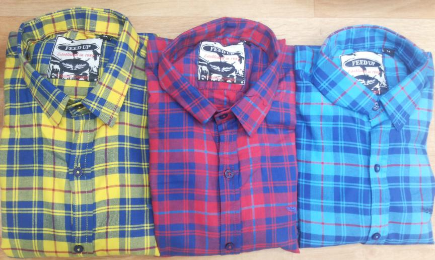 Men 39 s check shirt manufacturer in delhi india by mona arts for New check designs