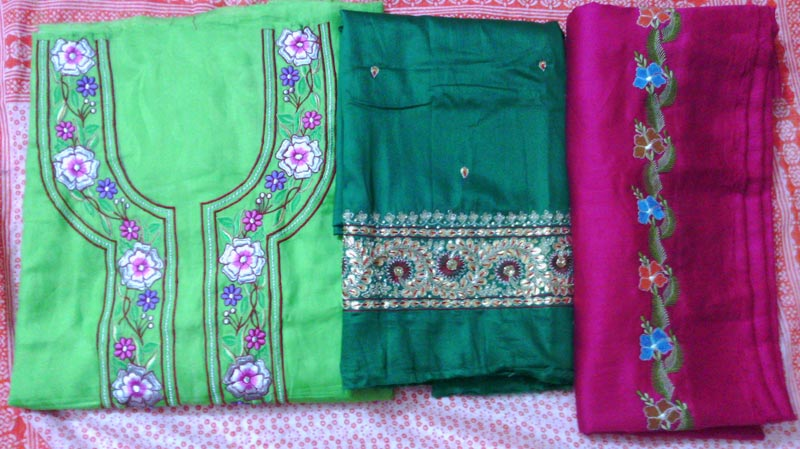 fd6e80f16e Ladies Unstitched Suits Manufacturer in Gurgaon Haryana India by ...