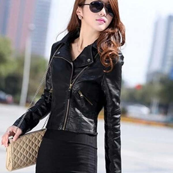 Buy New Fashion Women Style Soft Leather Jacket from Abrar ...