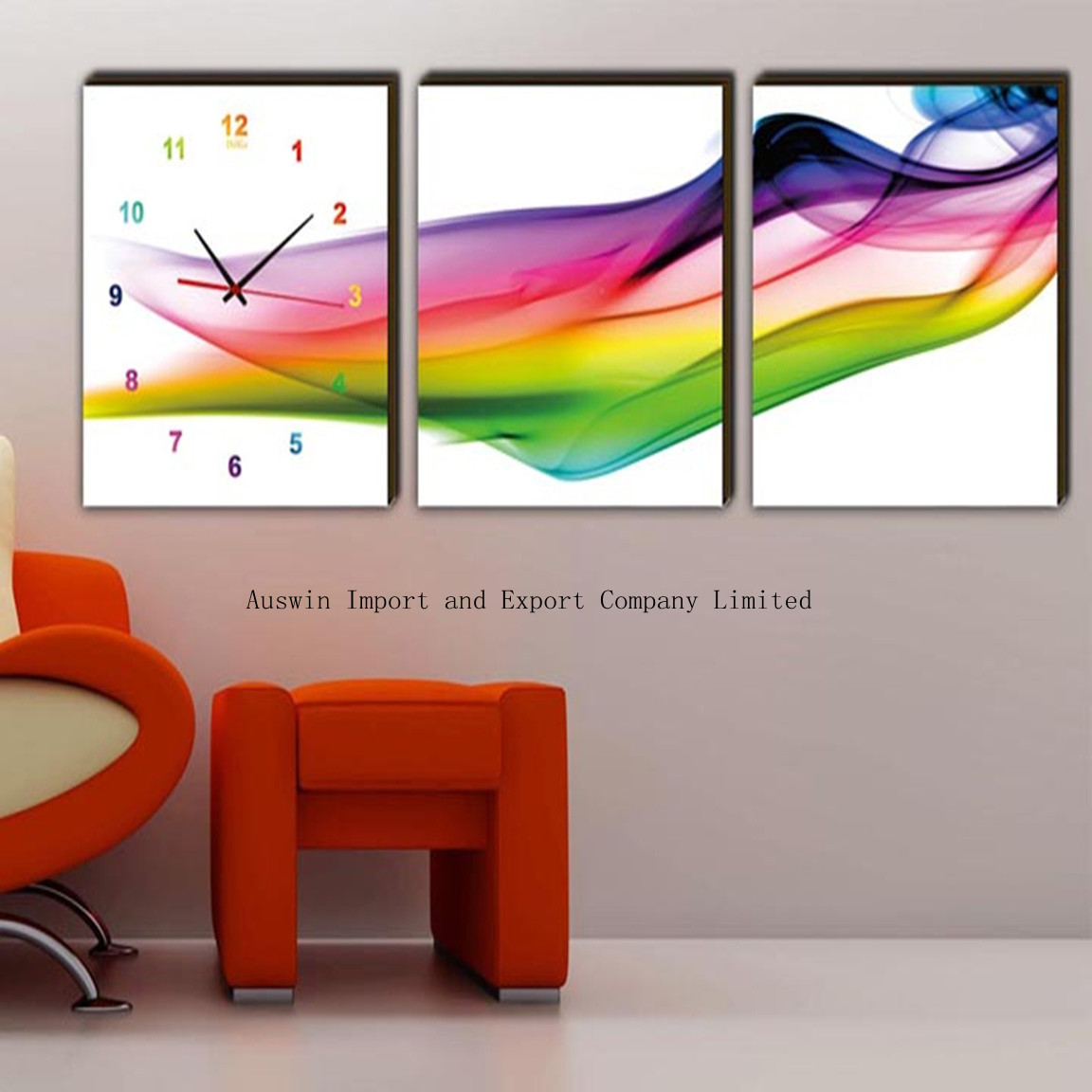 Art Wall Clock Manufacturer in Guangdong China by Auswin Import