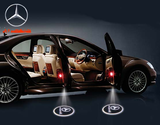 Led car door logo projector light mercedes logo for Mercedes benz symbol light