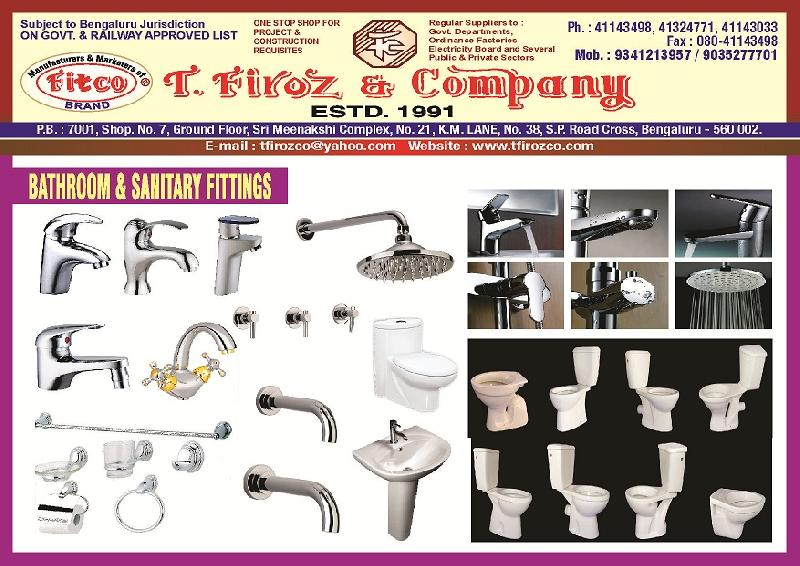 Bathroom Sanitary Fittings Manufacturer & Exporters from Bangalore