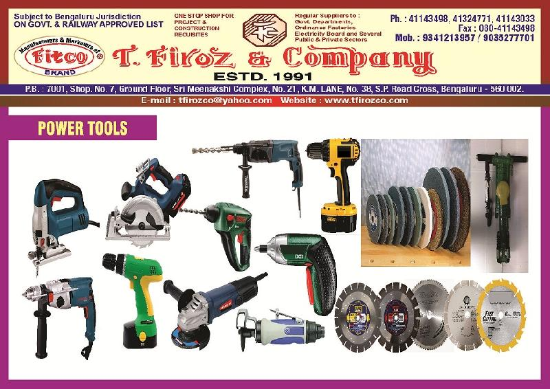 Hand and Power Tools Manufacturer & Exporters from Bangalore, India