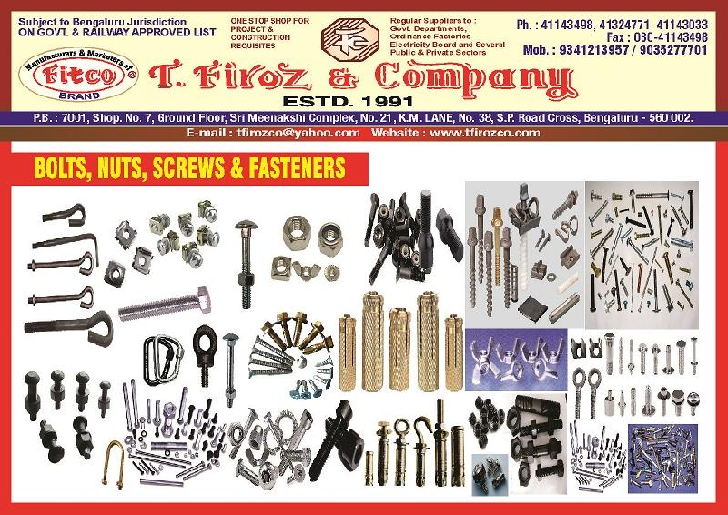 Industrial Fasteners Manufacturer & Exporters from Bangalore, India