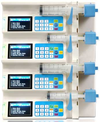 Automatic Four Channels Syringe Pump (MM-SIP004)