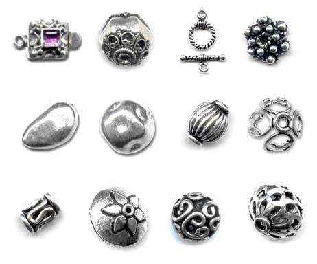 sterling round textured pcs spacers beads fine silver findings