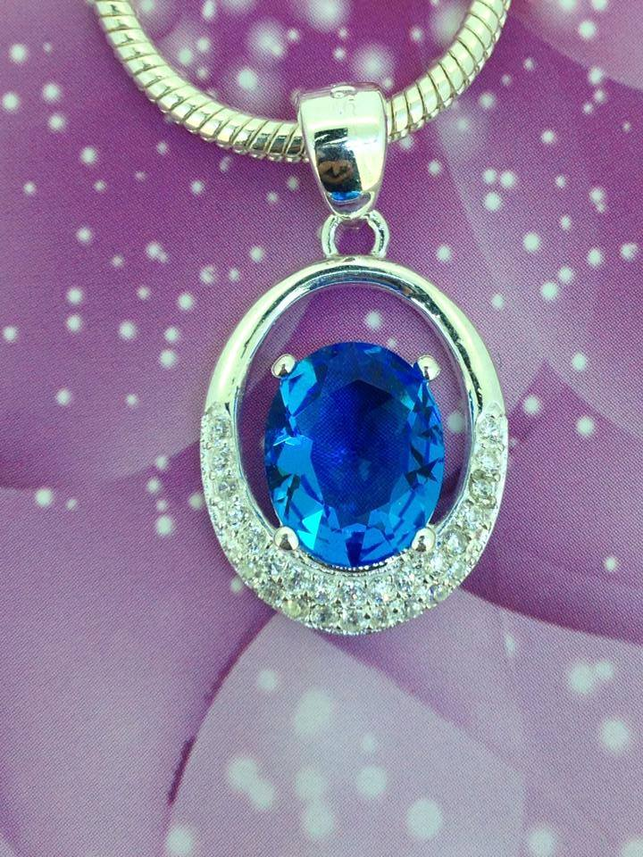 Blue Stone Silver Necklace Manufacturer & Manufacturer from ...