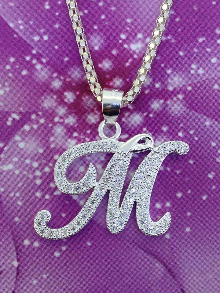 M&s Home Design Service Part - 42: Necklace With Letter M Pendant