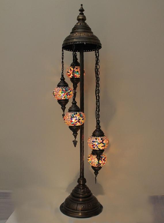 Buy turkish handmade 5 ball mosaic floor lamps from anatolian mosaic turkish handmade 5 ball mosaic floor lamps aloadofball Gallery
