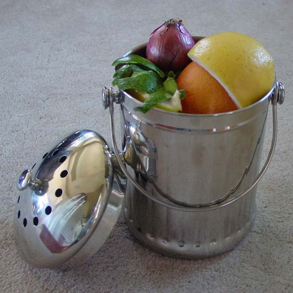 Stainless Steel Kitchen Compost Pail