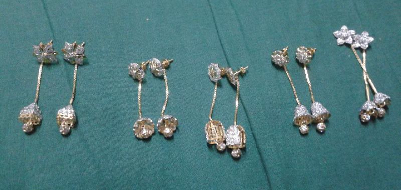 Gold Sui dhaga or tops and hanging