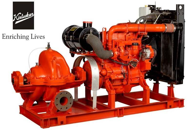 kirloskar factory fitted fire fighting diesel engine driven set manufacturer  id