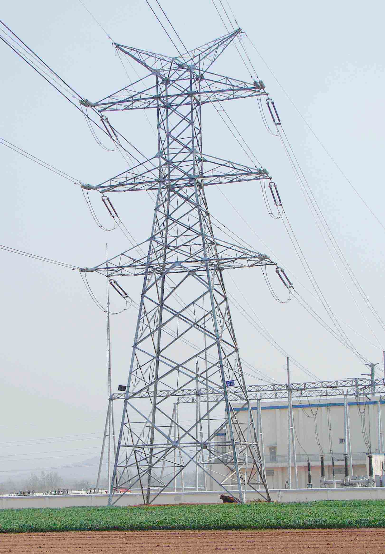 Construction Ehv Transmission Line as well Fbi Devices Similar Pipe Bombs Found Power Lines furthermore File Mickey Mouse shaped transmission tower Celebration FL in addition 220kv Power Transmission Tower Qingdao China 1021666 together with How Do You Determine Power Flow Direction In A Transmission Line. on power line tower types